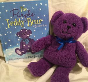 The Purple Teddy Bear (with toy bear)