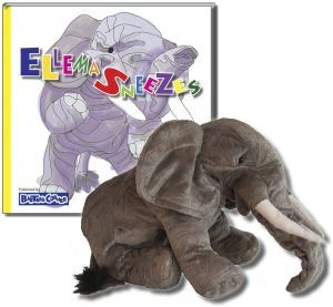 "Ellema Gift Set Includes ""Ellema Sneezes"" – Story About Respect and Folkmanis Puppet"
