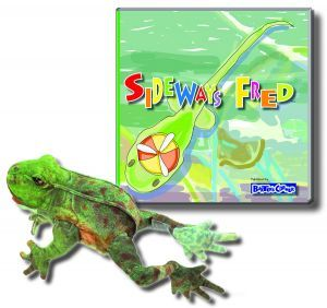 """Fred Gift Set Includes """"Sideways Fred"""" – Story About Determination and Folkmanis Puppet"""