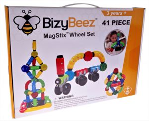 BizyBeez MagStix Wheel Set - 41 Piece