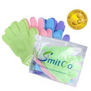 SMITCO Exfoliating Gloves - Body Exfoliator, 4 pairs
