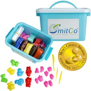 SMITCO Air Dry Modeling Clay for Kids - 36 Colors Fun Preschool Learning Craft Kits and Sensory Toys Activities