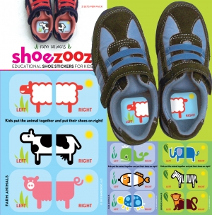 Award-Winning Children's book — SHOEZOOZ Educational Shoe Stickers