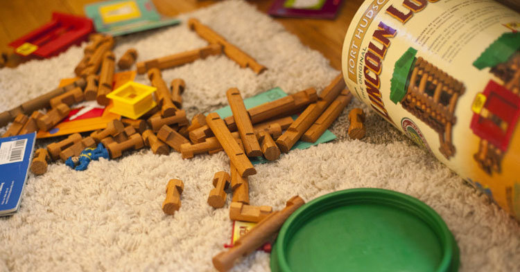 Lincoln Logs - Why I Love My Messy Home