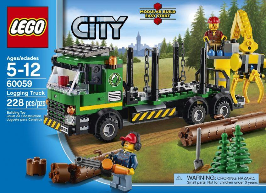 Lego Logging Truck (image)