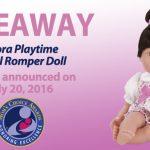 Giveaway! Adora Playtime Floral Romper Doll!