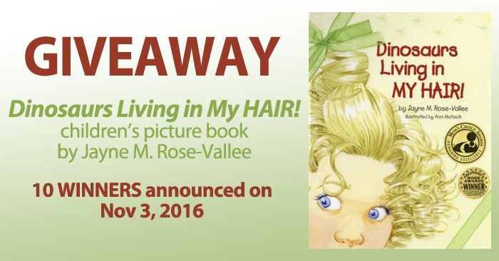 Dinosaurs Living in My Hair giveaway!