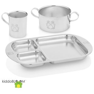 Kiddobloom Children Stainless Steel Dinnerware