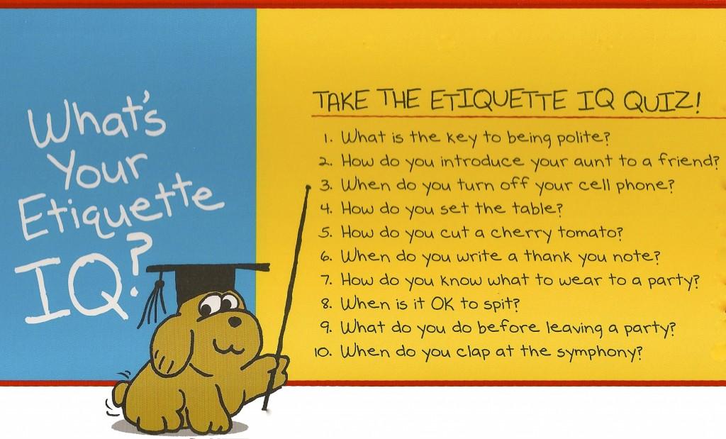 Dating etiquette quiz questions