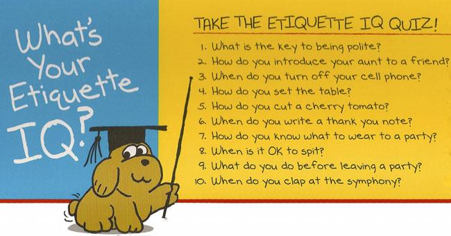 Etiquette IQ Quiz