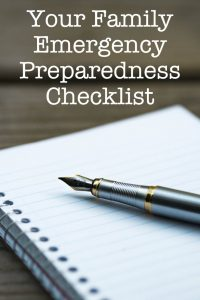What to Put On Your Family Emergency Preparedness Checklist