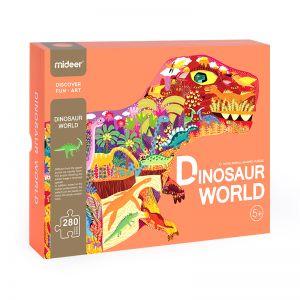 SHAPED PUZZLE DINOSAUR WORLD