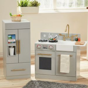 Teamson Kids - Little Chef Chelsea Modern Play Kitchen - Silver Grey