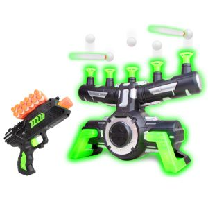 AstroShot Zero GX Glow in the Dark Floating Orbs Target with Blaster Toy Gun