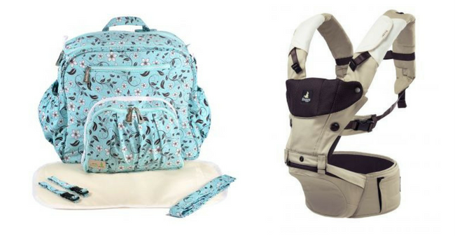 Fashionable Diaper Bags, Carriers & Educational Parenting Books