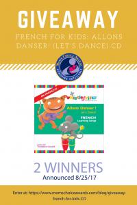 GIVEAWAY: French for Kids - Allons Danser! (Let's Dance)