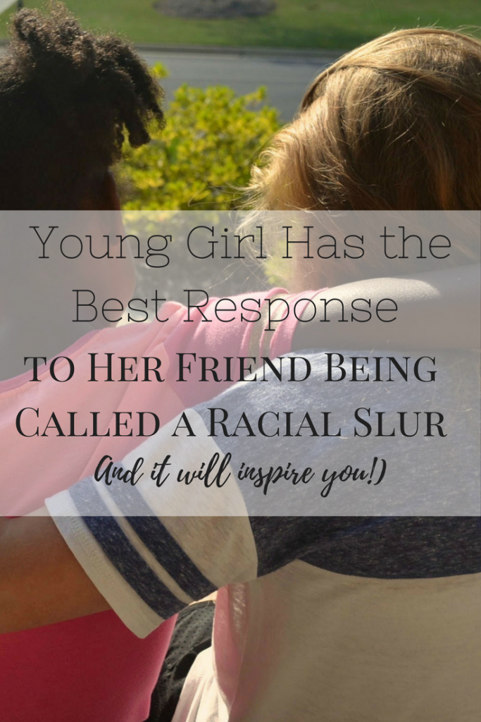 young girl response racial slur
