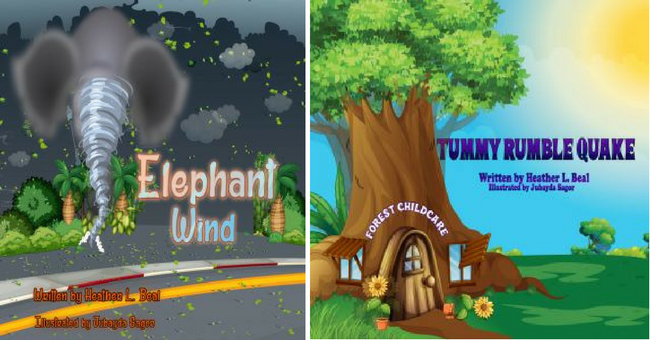Moms Choice Award Winning books Elephant Wind & Tummy Rumble Quake