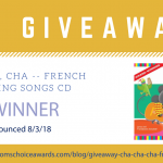 GIVEAWAY: Cha, Cha, Cha — French Learning Songs CD