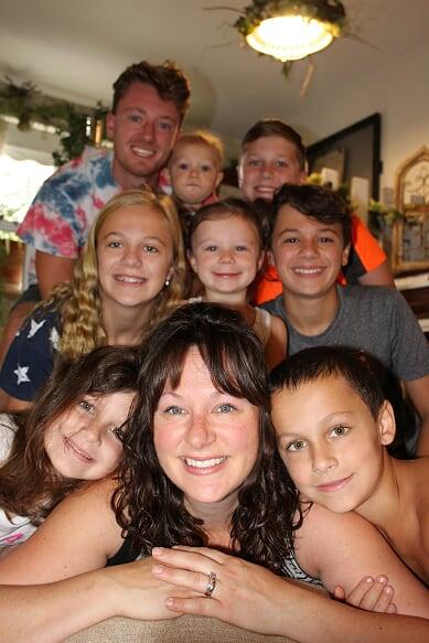 Kristin Gambaccini and her family