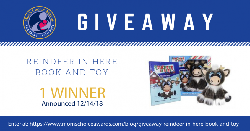 giveaway REINDEER IN HERE BOOK AND TOY