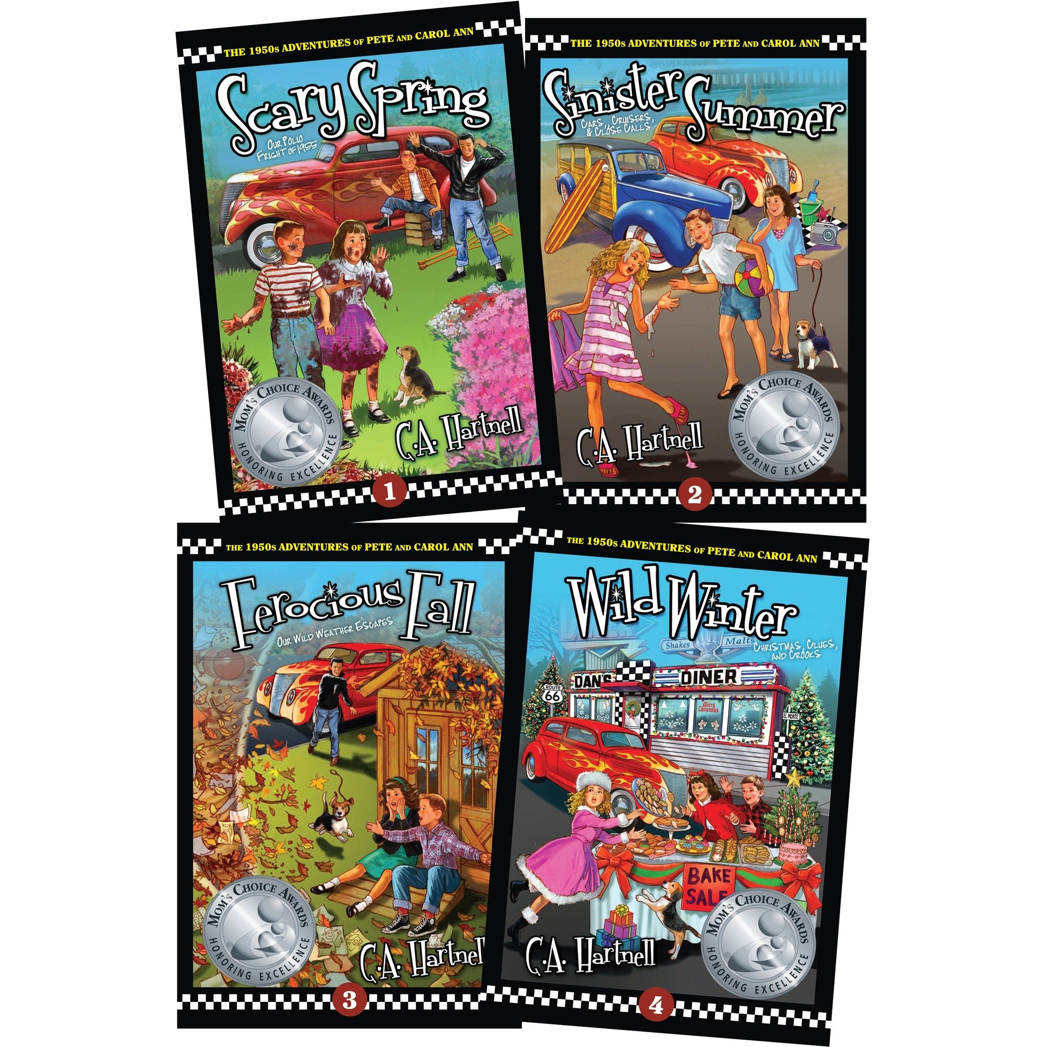 Award-Winning Children's book — The 1950s Adventures of Pete and Carol Ann - (Four Book Series)