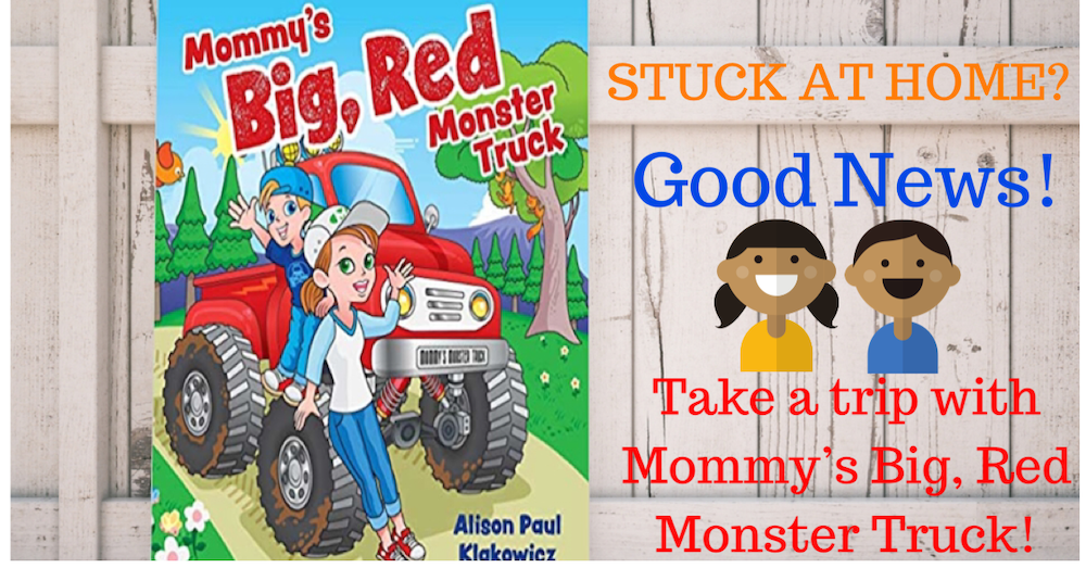 Mommy's Big, Red Monster Truck covid free