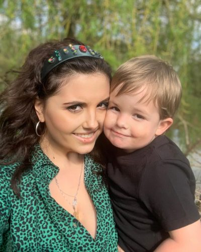 Ornella with her son.