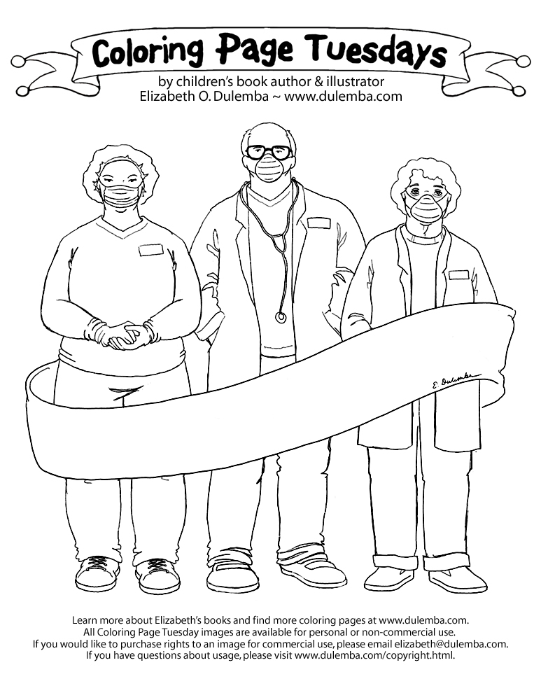 Coloring Page Tuesdays covid free