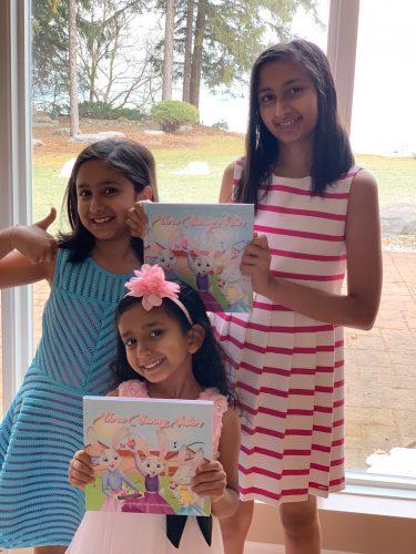 Raveena (age 13), Diya (age 10) and Amisha Duggal (age 6)