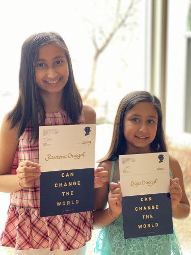 Raveena and Diya Duggal are winners of the 2019 Diana Award