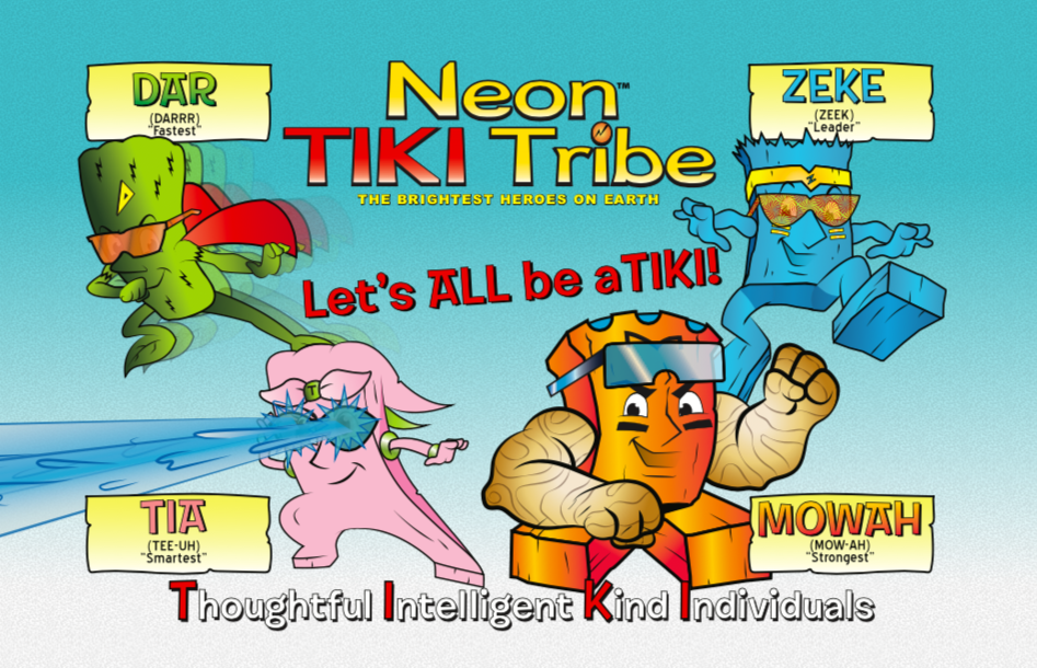 Neon Tiki Tribe (Educational Superhero Series) covid free