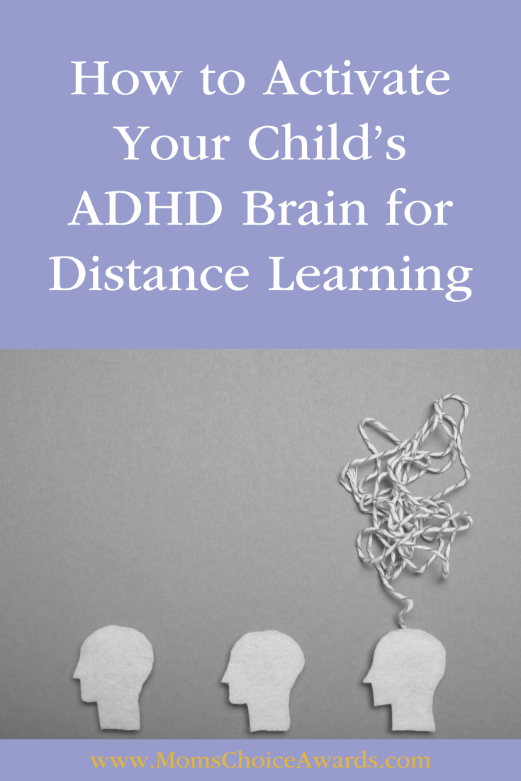 How to Activate Your Child's ADHD Brain for Distance Learning Pinterest Image