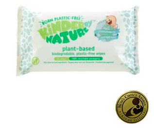 Kinder By Nature Plant Based Baby Wipes.