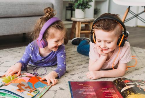 Children using Wonderbook.
