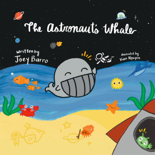 """Cover Art of """"The Astronaut's Whale."""""""