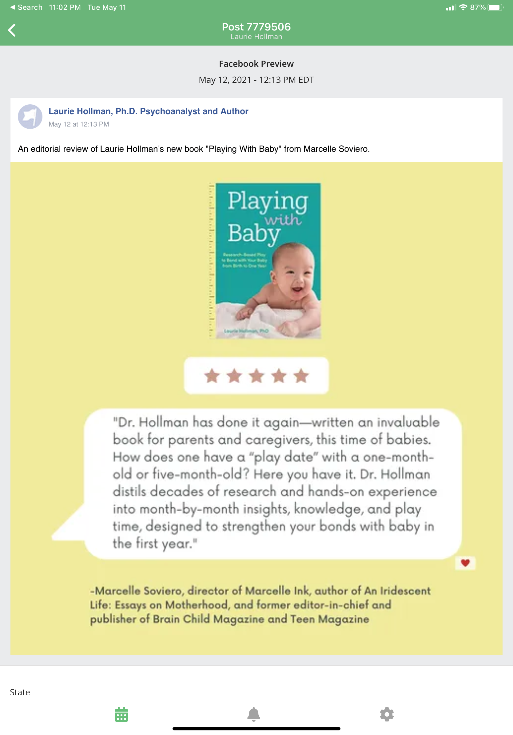 """A Review of """"Playing with Baby."""""""